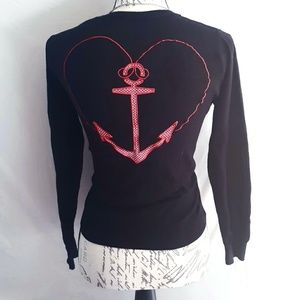 Sweaters - (Rare) Sparrows + Anchor Cardigan
